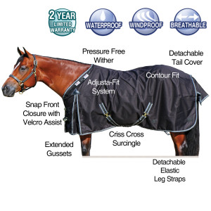 ai15003 StormShield® TEKNO-FLEECE® 1200D Fitted V-Free™ Turnouts -closed front