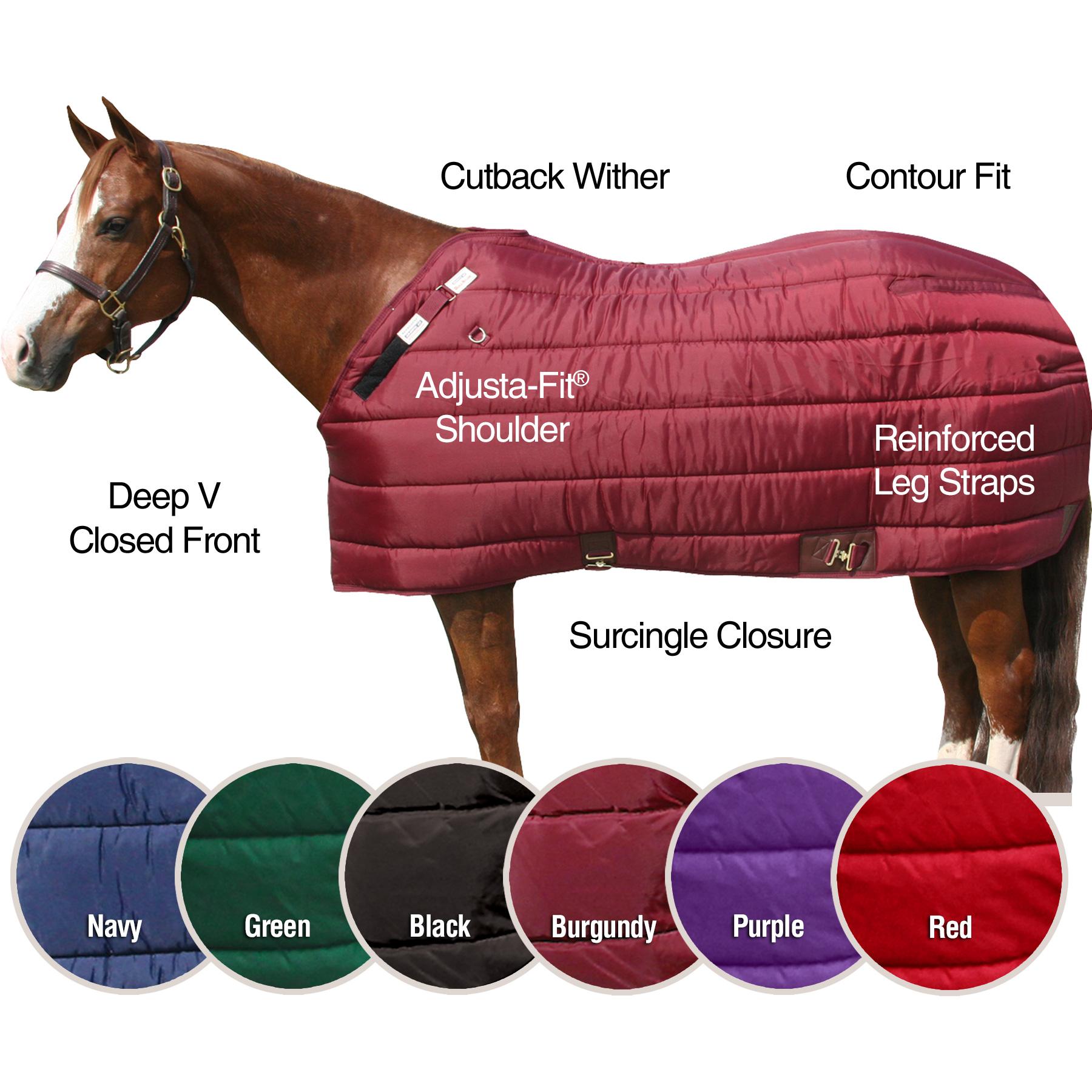 ai10481 Dura-Nylon® Cutback Zenith Leg Strap Stable Blanket - Heavyweight