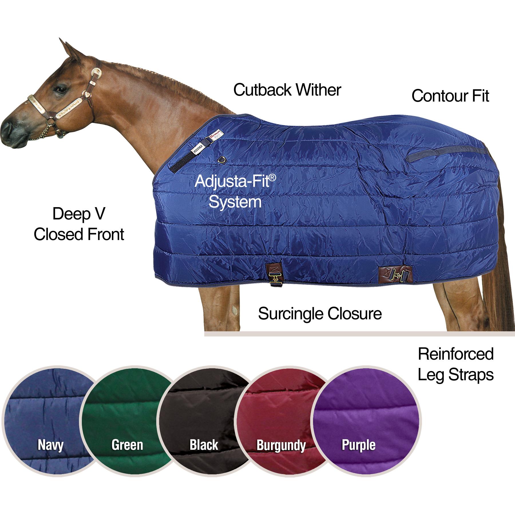 ai10485 Dura-Nylon® Cutback Westcoast Leg Strap Stable Blanket - Midweight