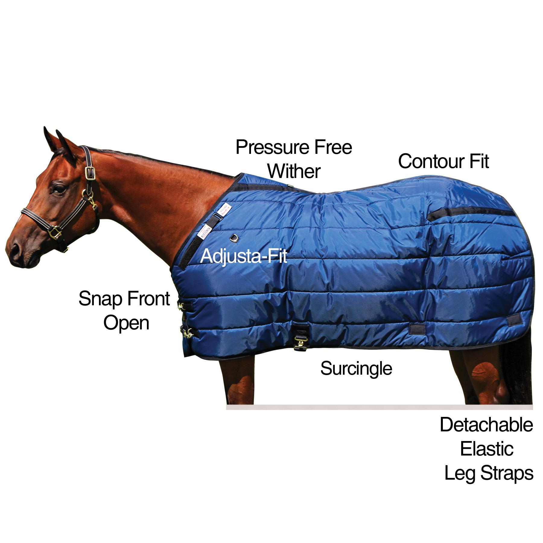 ai10493 Dura-Nylon® V-Free® Ocala Leg Strap Open Front Stable Blanket - Midweight