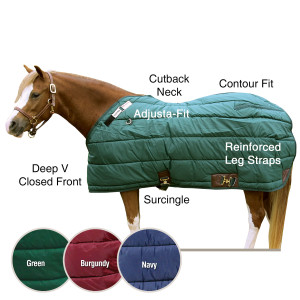 ai13183 Adjusta-Fit® Pony Leg Strap Midweight Stable Blanket
