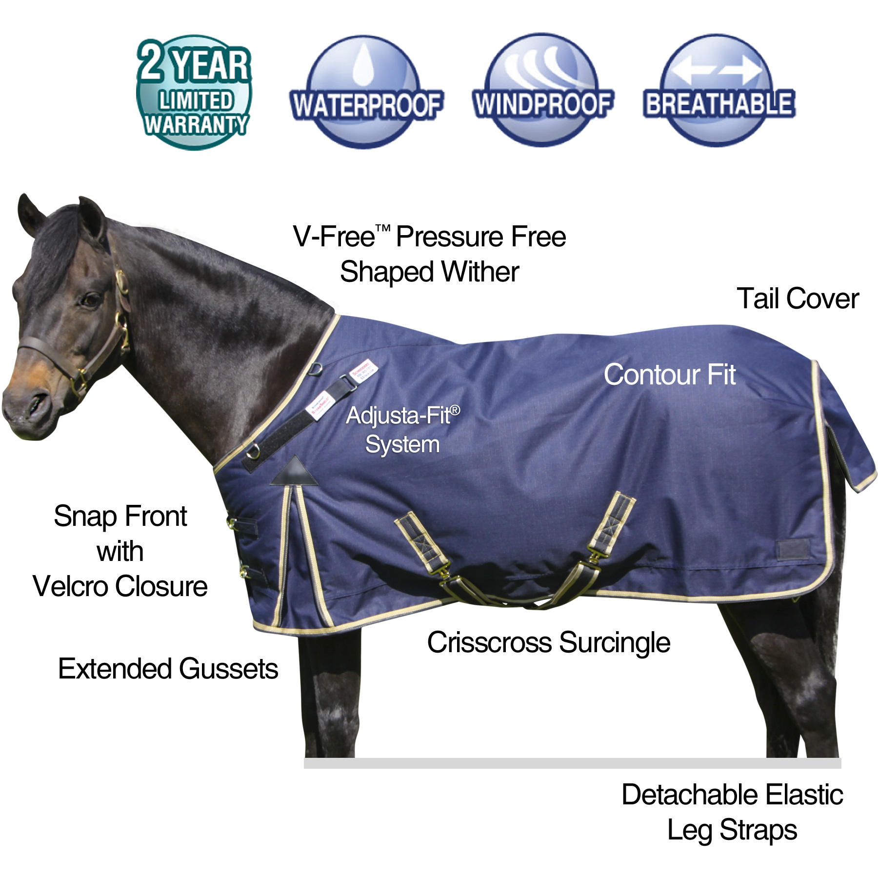ai15928 StormShield® VTEK® Evergreen Pony Turnout Blanket