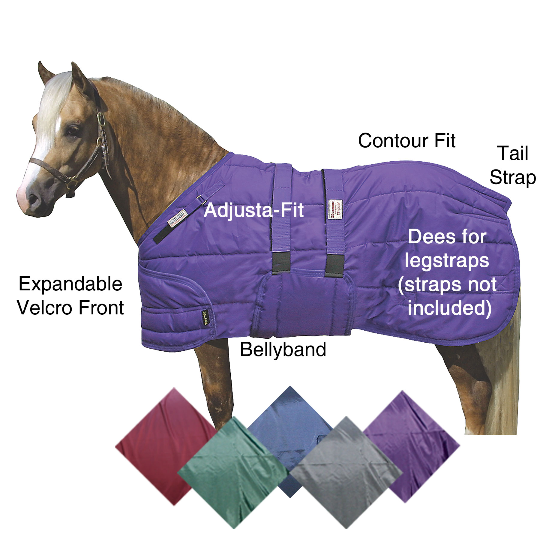 ai17142 Dura-Nylon® Expandable Bellyband Pony XL Foal Blanket