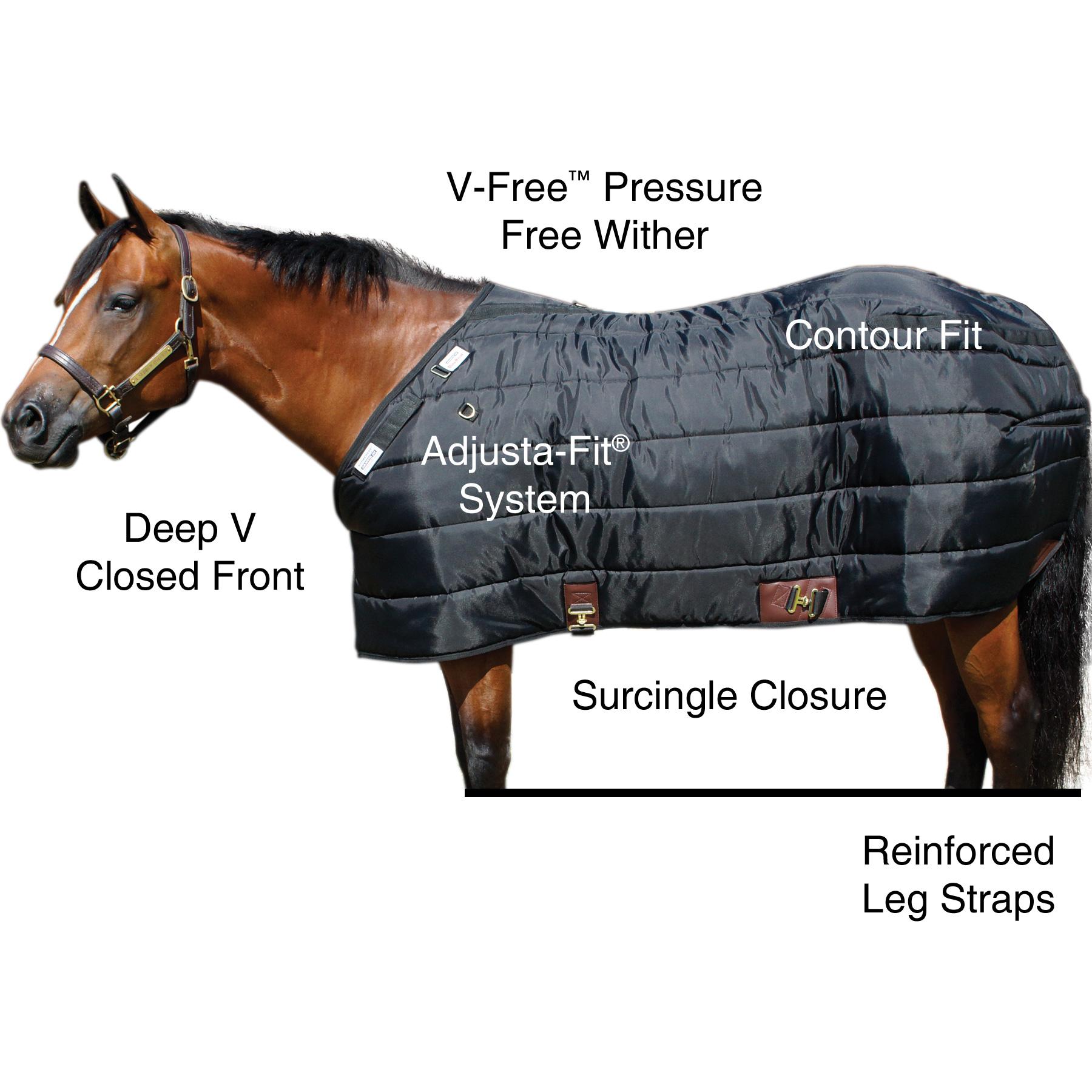 ai35348 Dura-Nylon® V-Free® Westcoast Leg Strap Stable Blanket - Midweight