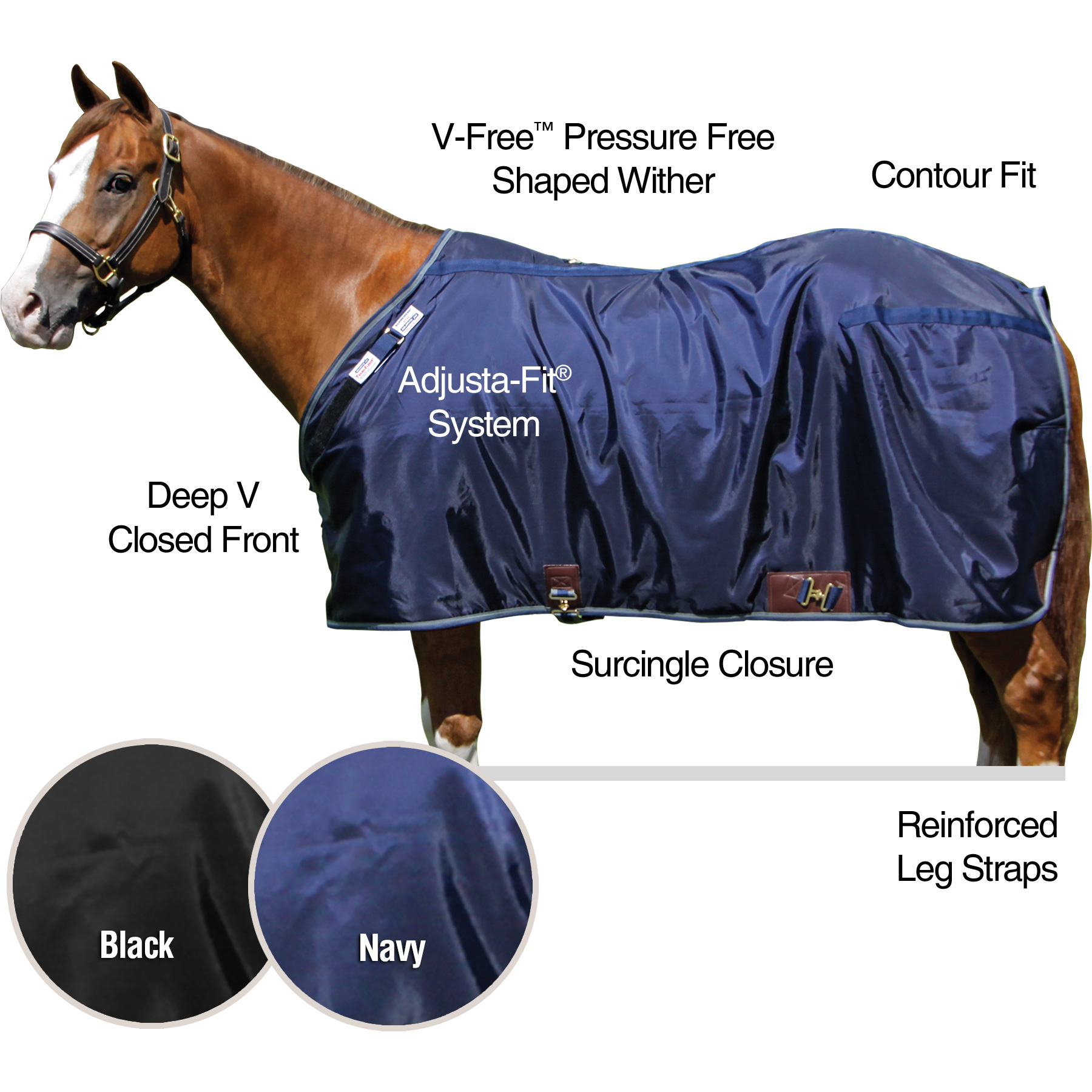 ai36857 TEKNO-FLEECE® Lightweight Stable Blanket