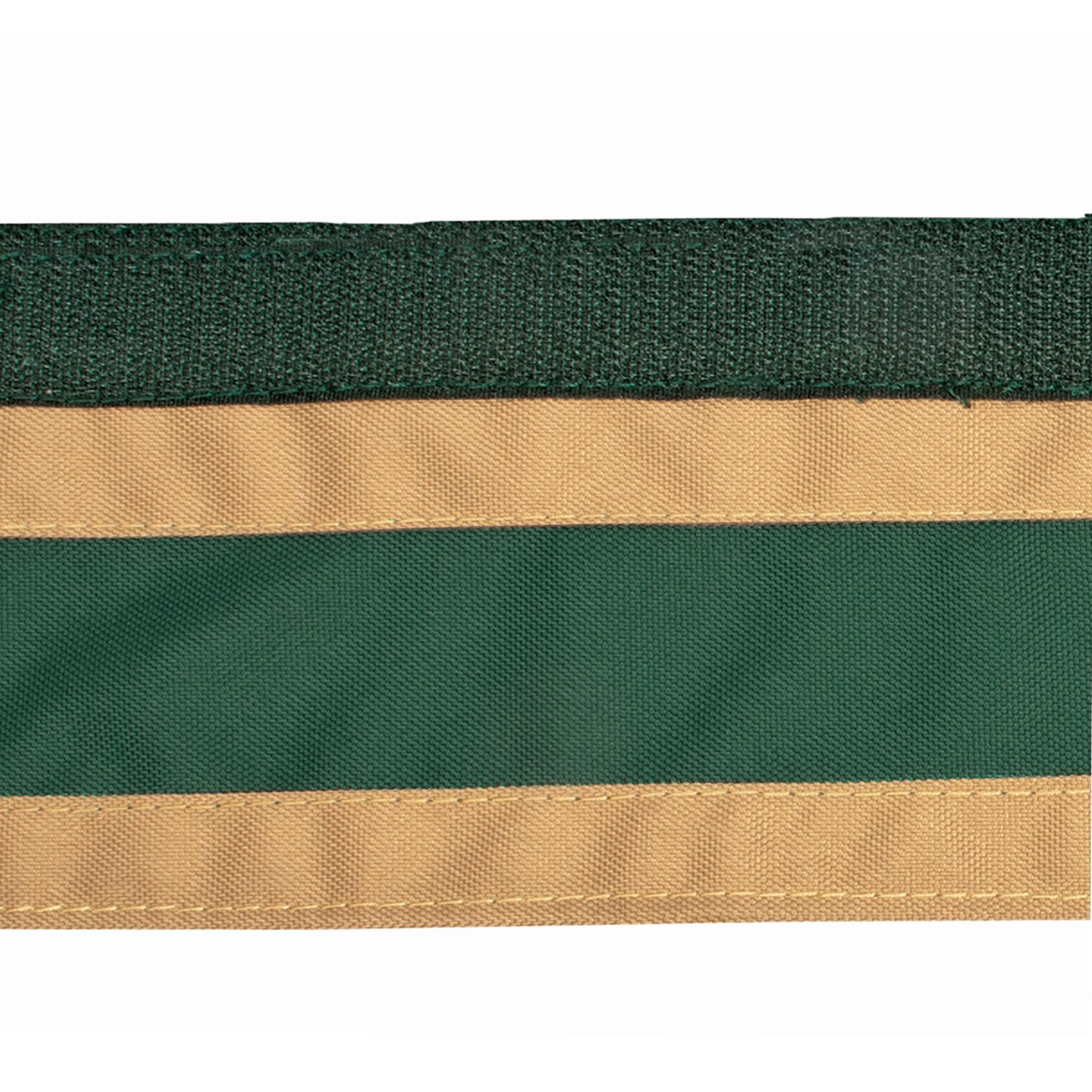 ai33216 Dura-Tech® Two Color Valance Stripe-tan-green