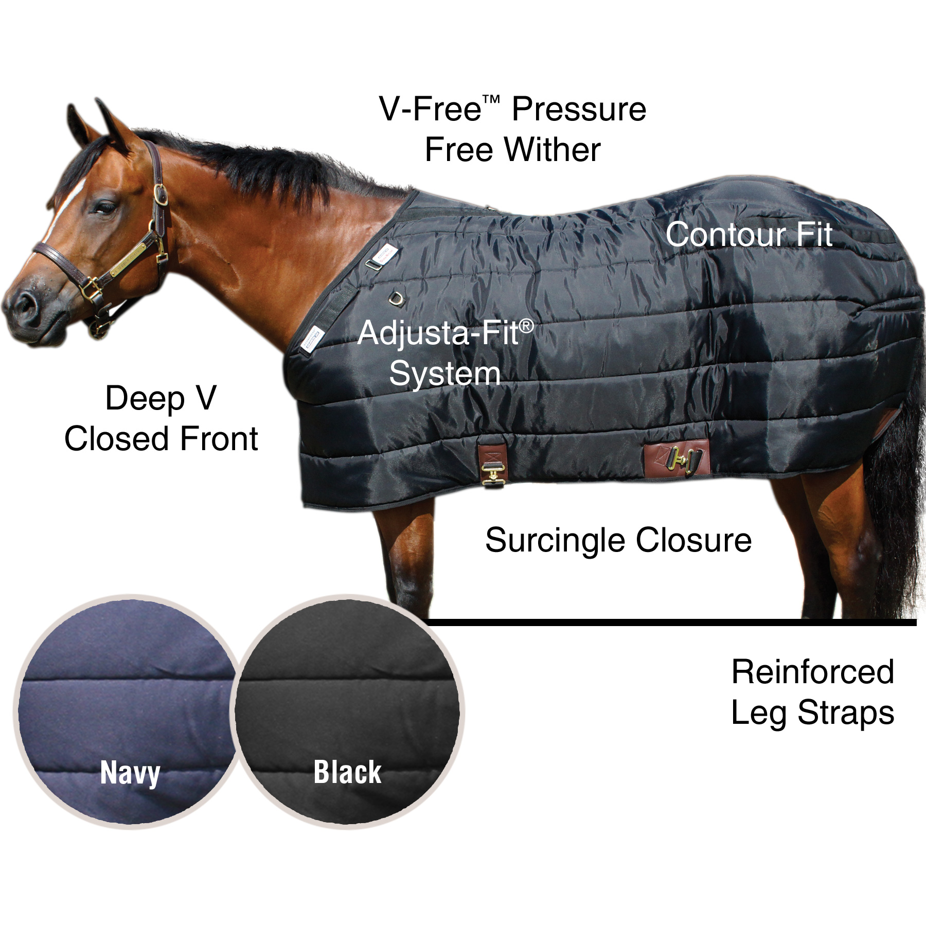 ai35330 Dura-Nylon® V-Free® Leg Strap Stable Blanket - Lightweight